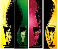 Bandeiras diferentes dos cocktail ilustração do vetor