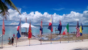 Bandeiras diferentes dos países diferentes Fotografia de Stock