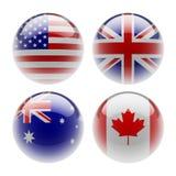 Bandeiras da esfera Fotografia de Stock
