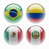 Bandeiras da esfera Imagem de Stock Royalty Free