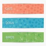 Bandeiras do animal de estimação Fotos de Stock
