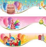 Bandeiras do aniversário Imagens de Stock