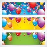 Bandeiras do aniversário Foto de Stock Royalty Free