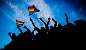 Bandeiras do arco-íris imagens de stock royalty free