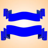 Bandeiras do azul do vetor Imagem de Stock Royalty Free
