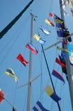 Bandeiras do barco de vela Imagens de Stock Royalty Free