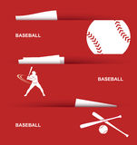 Bandeiras do basebol Imagem de Stock Royalty Free