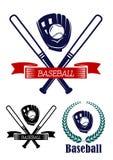 Bandeiras do basebol ajustadas Fotos de Stock