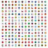 Bandeiras do círculo do mundo Imagem de Stock