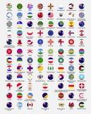 Bandeiras do círculo do mundo Imagens de Stock