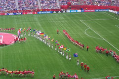 Bandeiras 2015 do campeonato do mundo das mulheres de Canadá FIFA Imagem de Stock