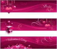 Bandeiras do cartão do Valentim Fotos de Stock Royalty Free