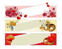 Bandeiras do casamento Imagens de Stock