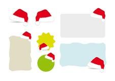 Bandeiras do chapéu de Santa Foto de Stock