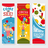 Bandeiras do circo ilustração do vetor