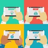 Bandeiras do conceito dos dispositivos Imagens de Stock Royalty Free