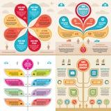 Bandeiras do conceito do negócio do molde dos elementos de Infographic para a apresentação, o folheto, o Web site e o outro proje ilustração do vetor