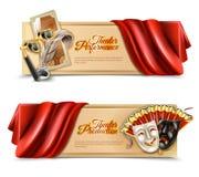 Bandeiras do desempenho de teatro ajustadas Foto de Stock Royalty Free
