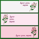 Bandeiras do dia de mães Imagem de Stock