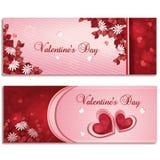 Bandeiras do dia de Valentim Foto de Stock