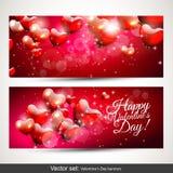 Bandeiras do dia de Valentim Imagem de Stock