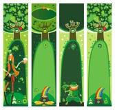 Bandeiras do dia do St. Patrick Imagens de Stock Royalty Free