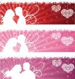 Bandeiras do dia do Valentim. Fotografia de Stock Royalty Free