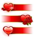 Bandeiras do dia do Valentim Fotografia de Stock
