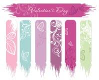 Bandeiras do dia do Valentim Foto de Stock