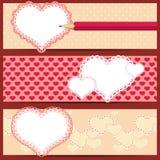 Bandeiras do dia do Valentim Fotos de Stock