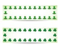 Bandeiras do dia dos patricks do St. Fotografia de Stock Royalty Free