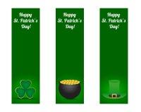 Bandeiras do dia dos patricks do St. Fotografia de Stock