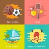 Bandeiras do esporte ajustadas Imagens de Stock Royalty Free
