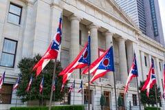Bandeiras do estado de Ohio fotografia de stock