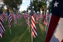 Bandeiras do Estados Unidos Feriado de Memorial Day Fotografia de Stock
