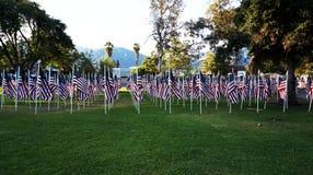 Bandeiras do Estados Unidos Feriado de Memorial Day Fotos de Stock Royalty Free