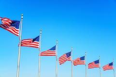 Bandeiras do Estados Unidos fotos de stock royalty free
