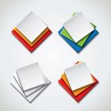 Bandeiras do estilo da bolha, ícones Fotos de Stock