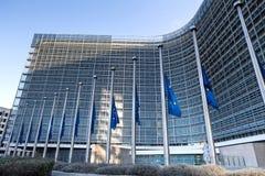Bandeiras do Eu em Bruxelas Bélgica foto de stock royalty free