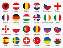 Bandeiras do Euro 2016 Imagem de Stock Royalty Free