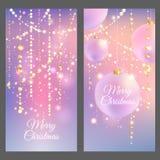 Bandeiras do Feliz Natal Imagens de Stock Royalty Free