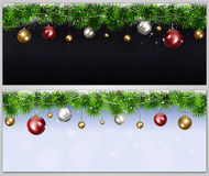 Bandeiras do feriado do Xmas Fotos de Stock