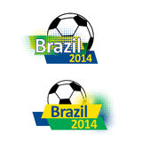 Bandeiras 2014 do futebol de Brasil Imagens de Stock Royalty Free
