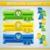 Bandeiras do futebol de Infographic em cores de Brasil Imagem de Stock Royalty Free