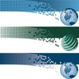 Bandeiras do globo Fotos de Stock Royalty Free