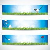 Bandeiras do golfe ilustração stock