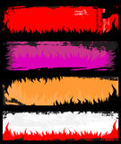 Bandeiras do grunge da flama ilustração royalty free