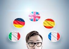 Bandeiras do indivíduo e de país do moderno Imagens de Stock Royalty Free