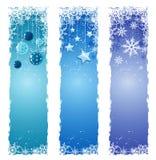 Bandeiras do inverno Fotos de Stock Royalty Free