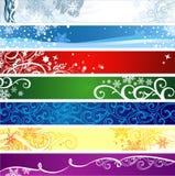 Bandeiras do inverno com espaço para seu texto ilustração royalty free